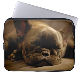Sleepy French Bulldog Laptop Sleeve
