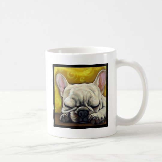 Sleepy Frenchie Coffee Mug