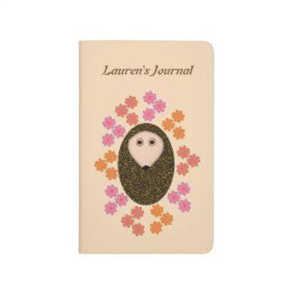 Sleepy Hedgehog and Flowers Custom Wedding Journal
