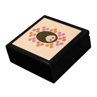 Sleepy Hedgehog and Flowers Gift Box