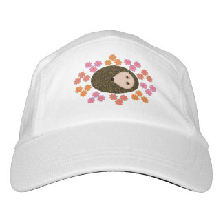 Sleepy Hedgehog and Flowers Hat