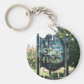 Sleepy Hollow Basic Round Button Key Ring