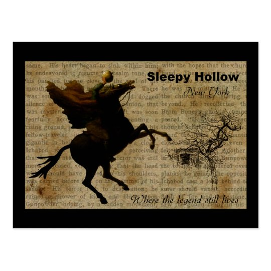 Sleepy Hollow Headless horseman 2 Postcard