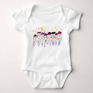 Sleepy Houses Baby Bodysuit