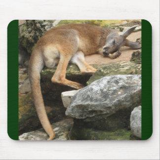 Sleepy Kangaroo Mouse Mat