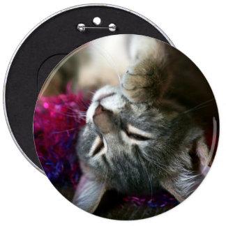 Sleepy Kitten 6 Cm Round Badge
