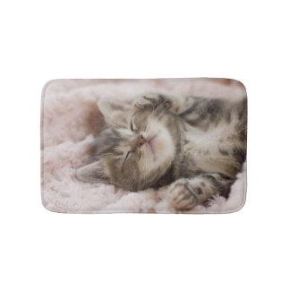 Sleepy Kitten Bath Mat