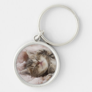 Sleepy Kitten Key Ring