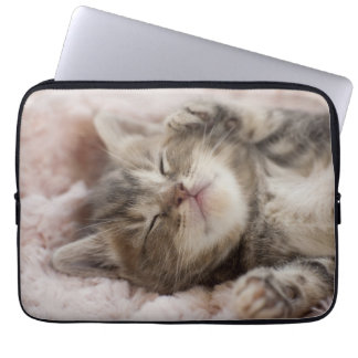 Sleepy Kitten Laptop Sleeve