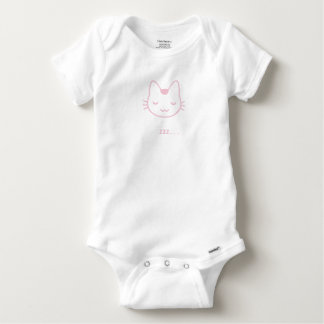 Sleepy Kitty Baby Onesie