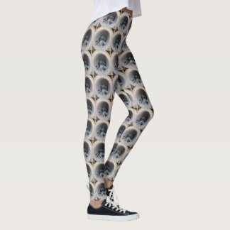 Sleepy Kitty Cat by Shirley Taylor Leggings