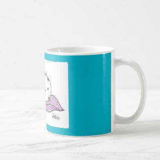 Sleepy Kitty Basic White Mug