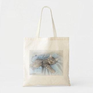 Sleepy Kitty Budget Tote Bag