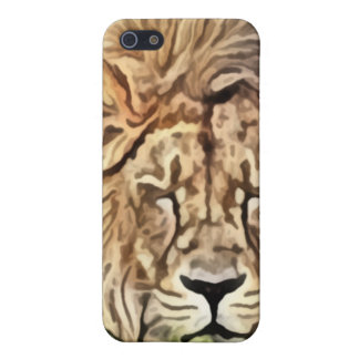 Sleepy lion painting case for the iPhone 5