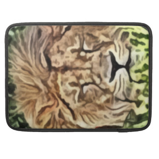 Sleepy lion painting sleeve for MacBook pro