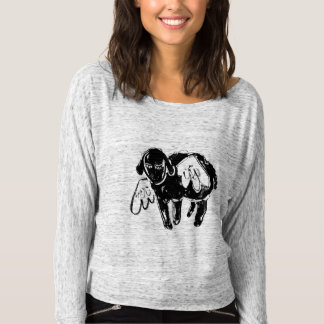 Sleepy Little Black Sheep Tee Shirt