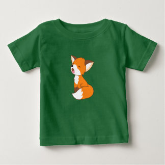Sleepy Little Fox Baby T-Shirt
