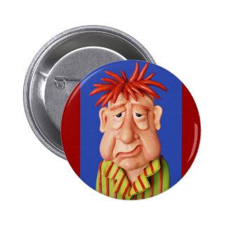 Sleepy Man 6 Cm Round Badge