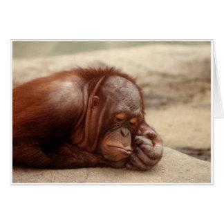 Sleepy Monkey Greeting Card