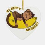 Sleepy Monkey Ornament