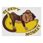 Sleepy Monkey Poster