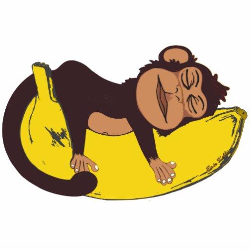 Sleepy Monkey Standing Photo Sculpture