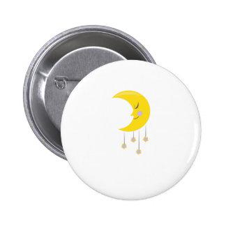 Sleepy Moon Pinback Buttons
