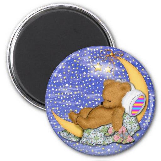 Sleepy Moon Bear Refrigerator Magnet