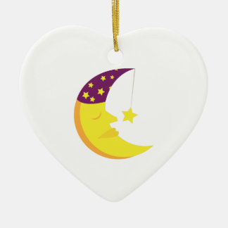 Sleepy Moon Christmas Ornament