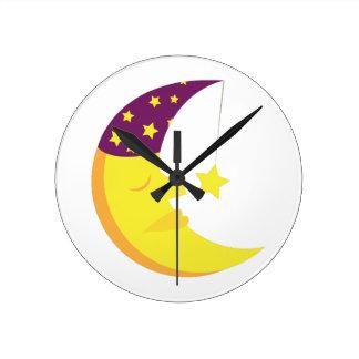 Sleepy Moon Clocks