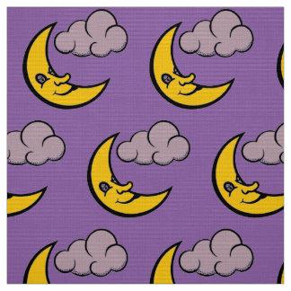 Sleepy moon fabric