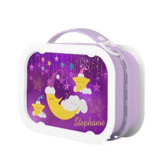 Sleepy Moon & Stars Purple Starry Sky Lunch Box