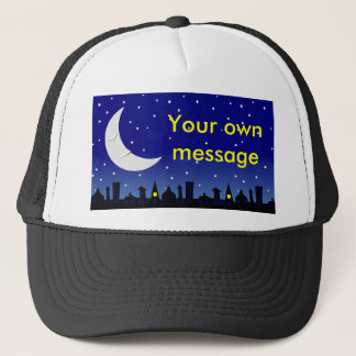 sleepy moon trucker hat