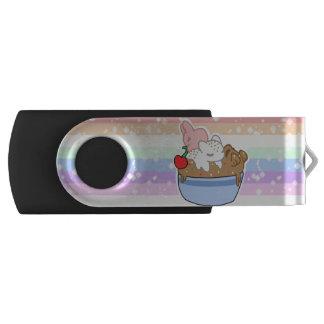 Sleepy Neapolitan Pets in a bowl USB Flash Drive