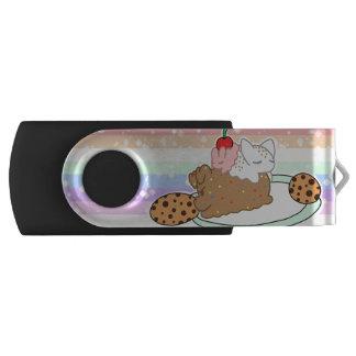 Sleepy Neapolitan Pets on a plate USB Flash Drive