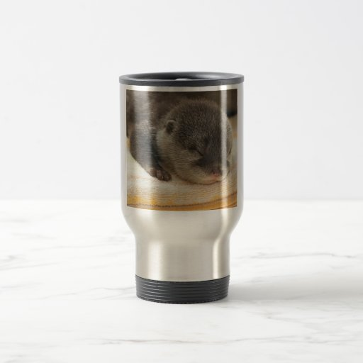 Sleepy Otter Coffee Mugs