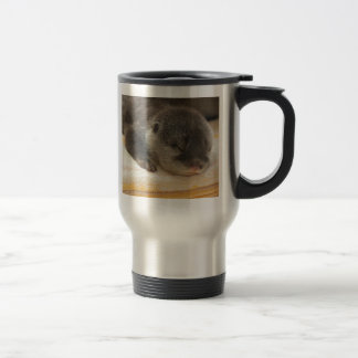 Sleepy Otter Stainless Steel Travel Mug