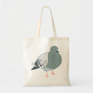 Sleepy Pigeon Tote Bag