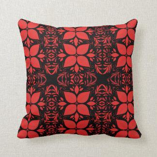 Sleepy Poinsettias Christmas Throw Pillow