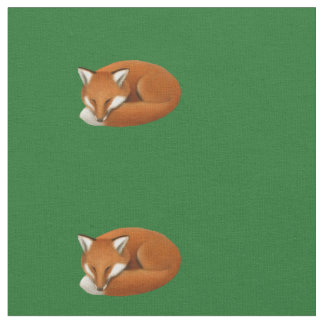 Sleepy Red Fox Cotton Fabric
