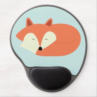 Sleepy Red Fox Gel Mouse Pad