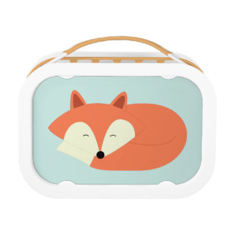 Sleepy Red Fox Lunch Box
