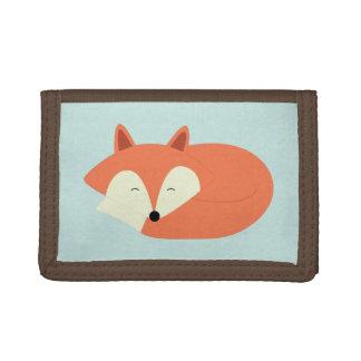 Sleepy Red Fox Tri-fold Wallet