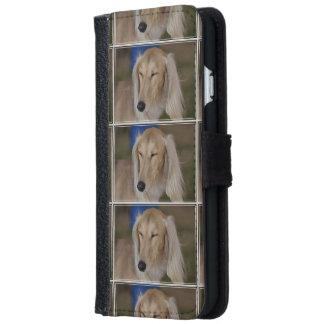 Sleepy Saluki Dog iPhone 6 Wallet Case