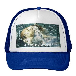 "Sleepy Sea Otter ""I Love Otters!"" Trucker Hat"