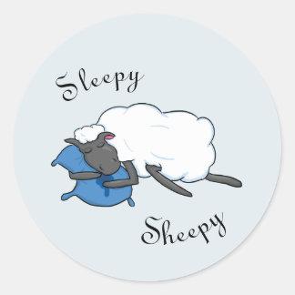 Sleepy Sheepy Sticker
