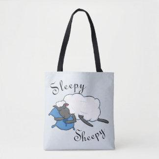 Sleepy Sheepy Tote Bag