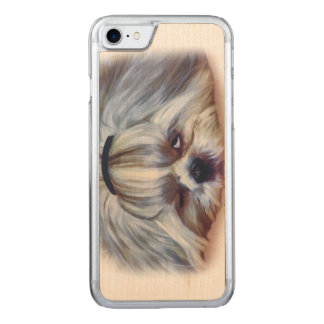 Sleepy Shih Tzu Dog Carved iPhone 8/7 Case