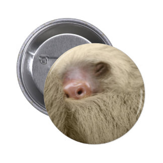 sleepy sloth 6 cm round badge