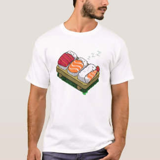 sleepy sushi men cute funny t shirt designs